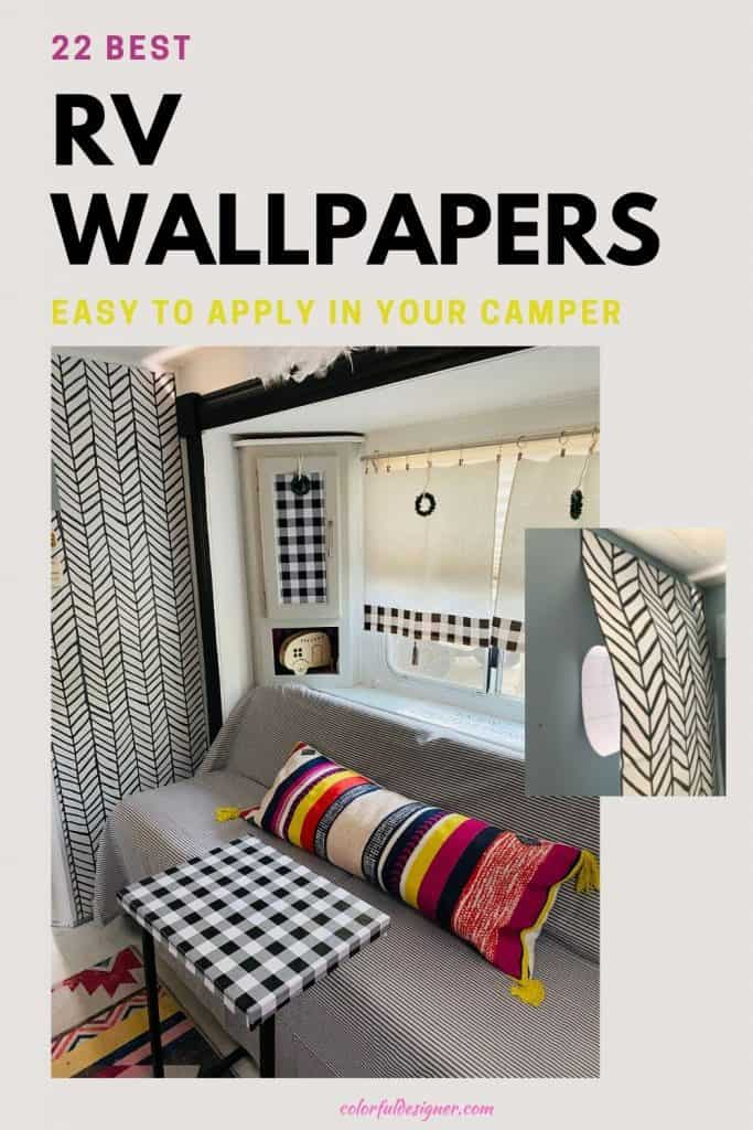 22 best peel and stick wallpaper choices for your RV