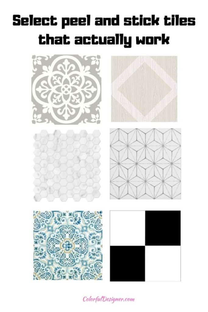 select the peel and stick floor tile