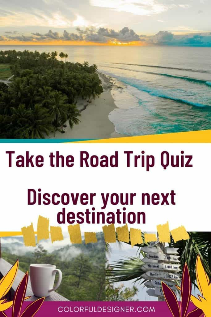 take the road trip quiz and answer 8 easy questions