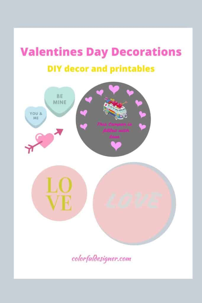 Valentines Day Decorations and printables