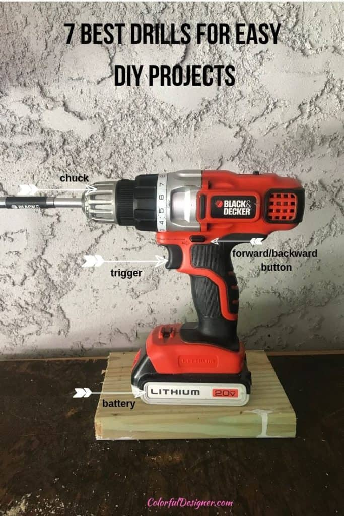 drill driver overview with all the descriptions where is what