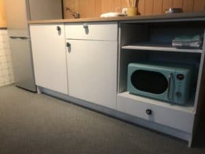 kitchenette in the studio apartment