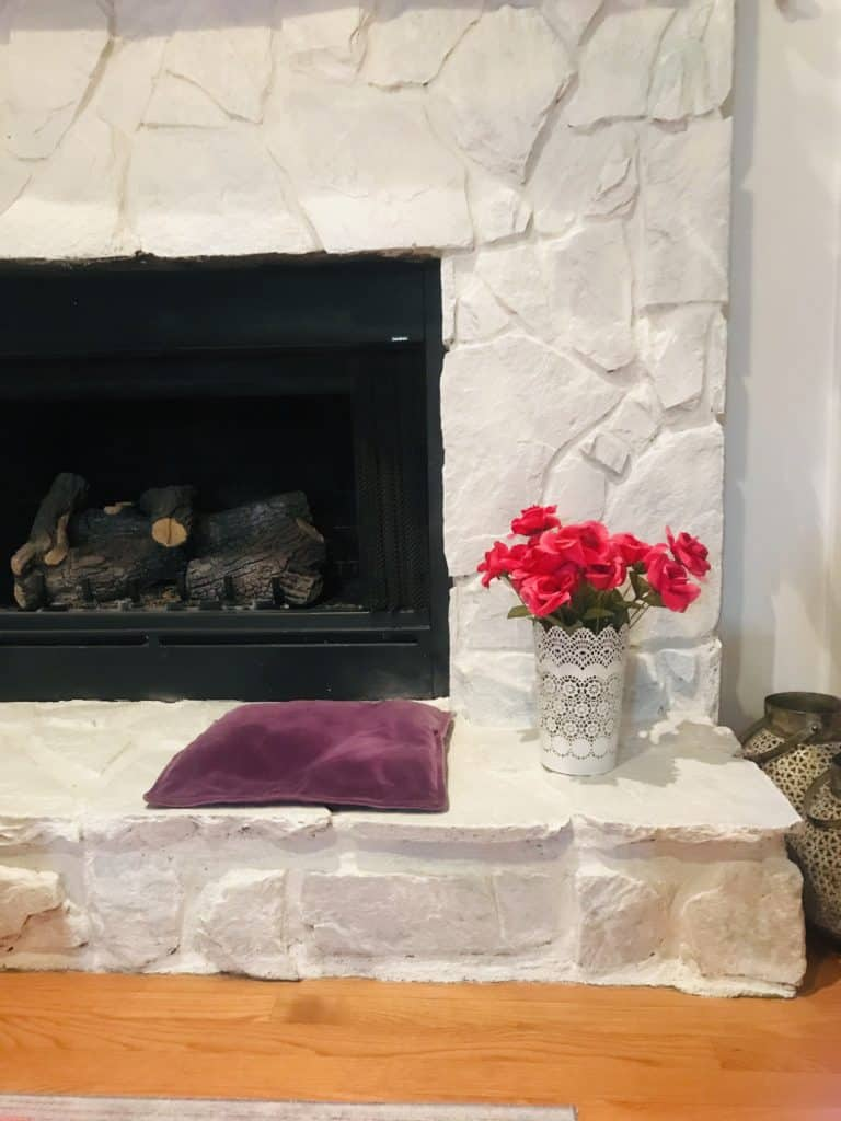 Decorating on a budget. Paint your fireplace
