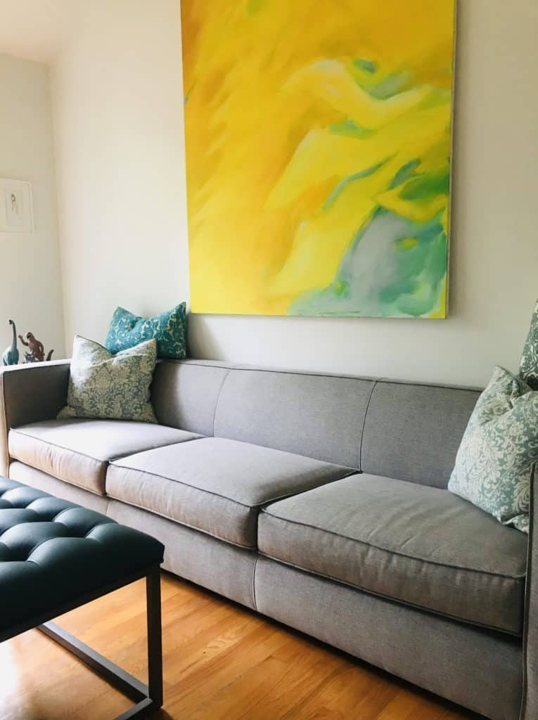 Living Room Sofa in grey