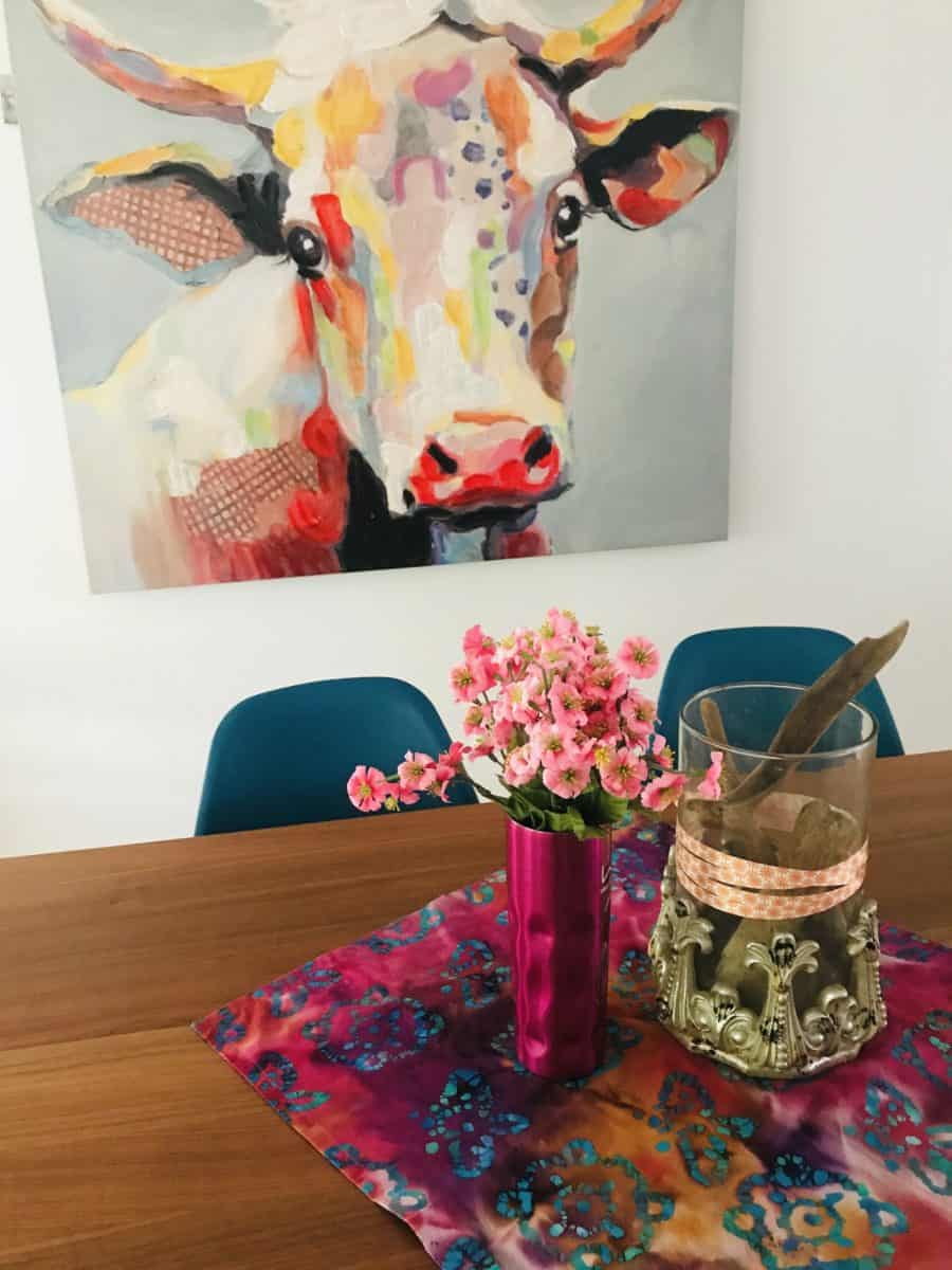 Pink Art Work as a focal point in your room