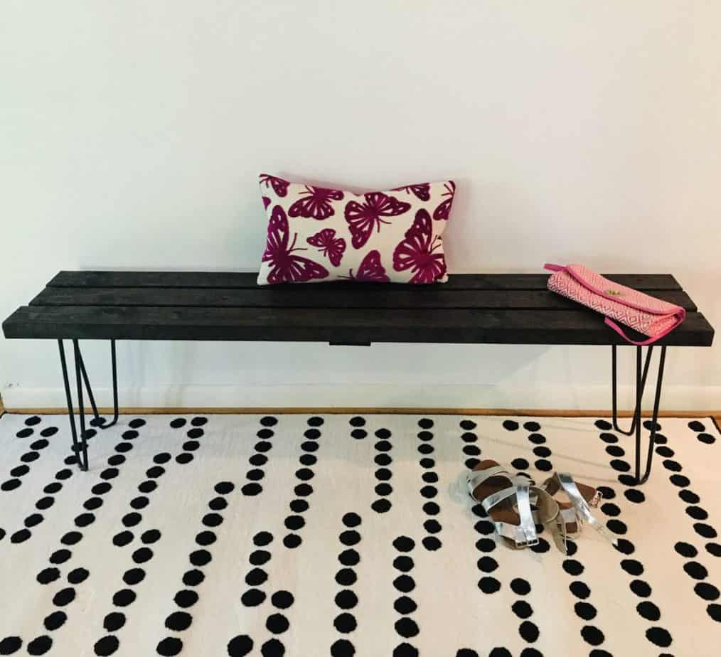 Bench with hairpin legs