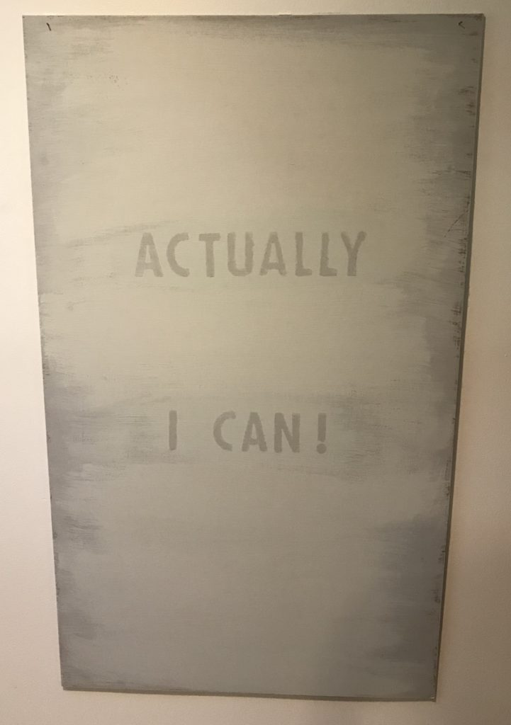 Sign 'Actually I can'