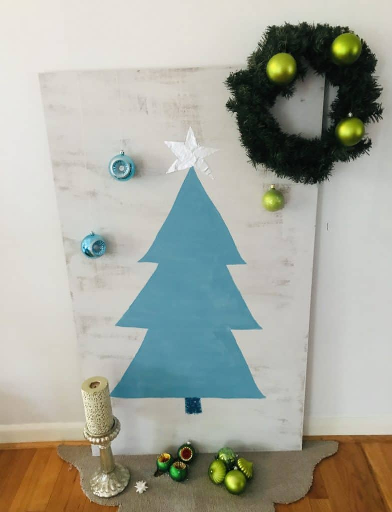 Decorated Christmas painting