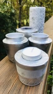 pretty candle holders DIY with concrete