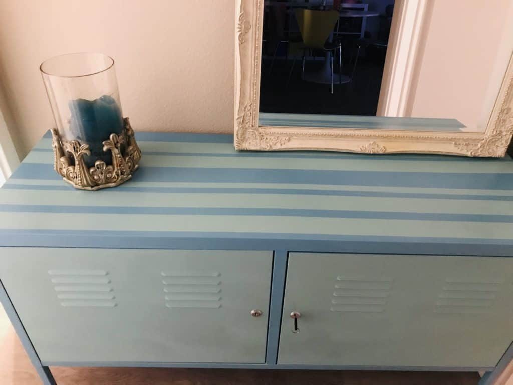 metal cabinet finished painting - how to paint metal cabinets easily.