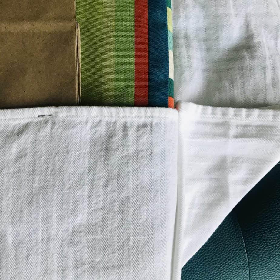 fold the fabric like a present
