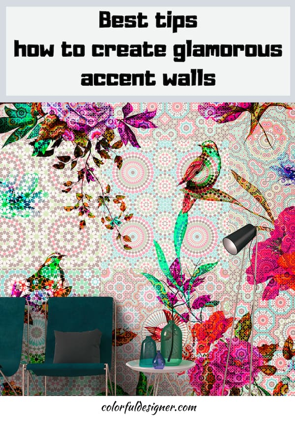 how to create glamorous accent walls