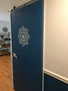 How to paint stencils on doors