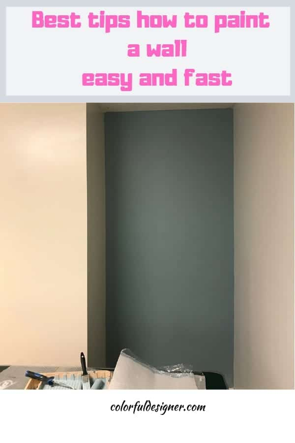 easy tips how to paint a wall