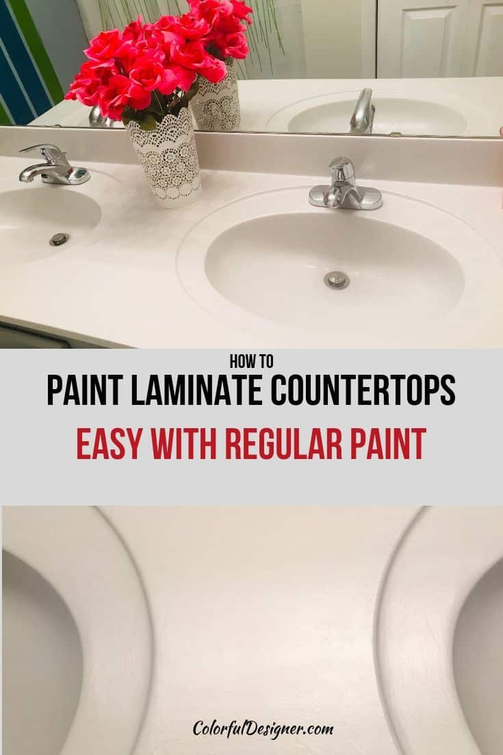 paint countertops with regular paint