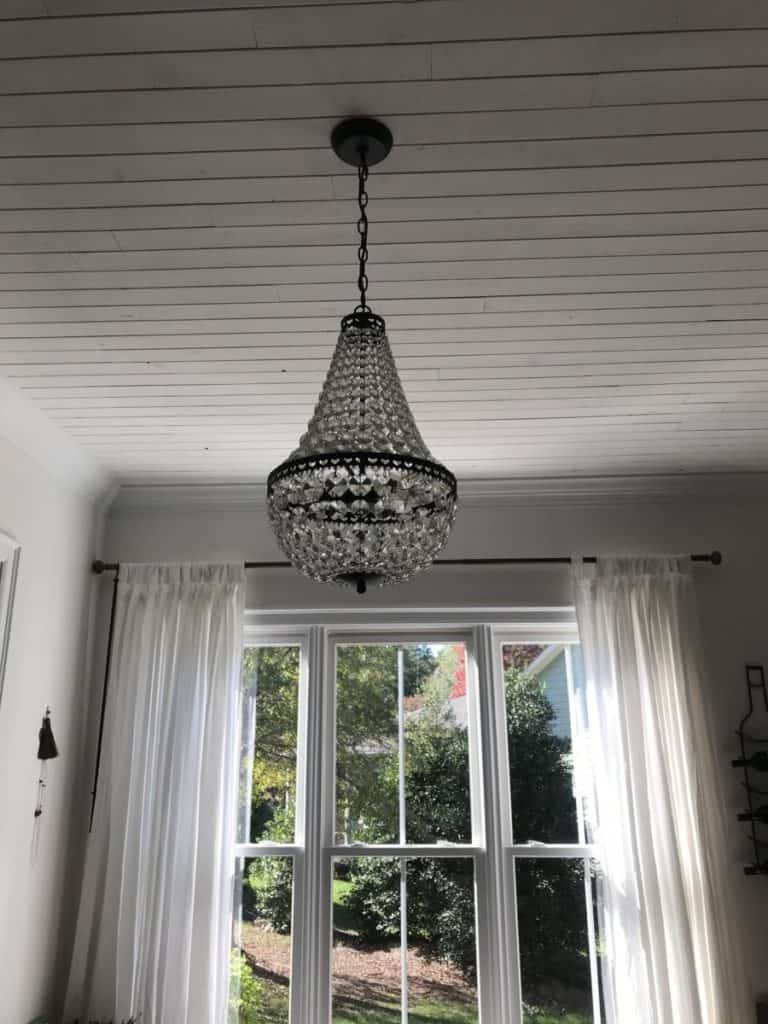 chandelier as a focal point