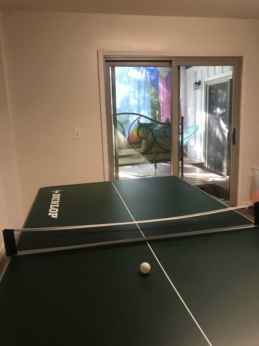 Basement Room with table tennis