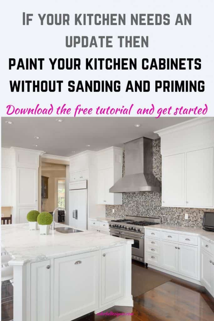 paint kitchen cabinets in light grey to freshen up the look of your kitchen. Make it look modern and update the kitchen cabinets without sanding, stripping and priming.
