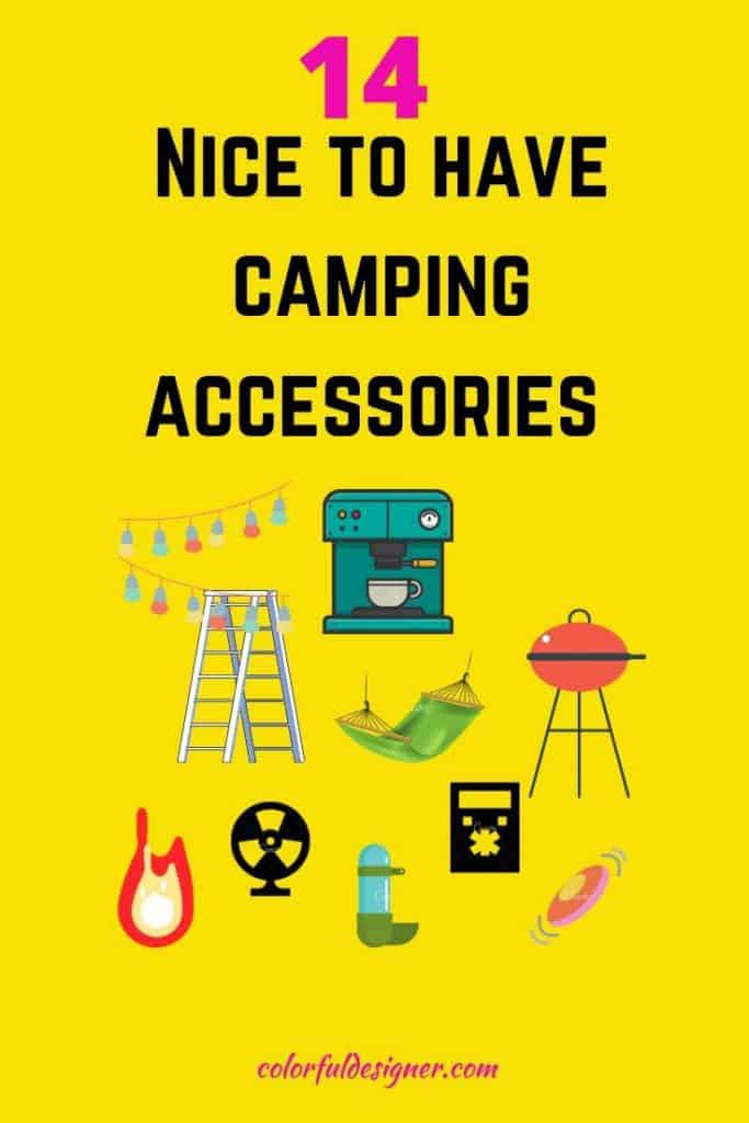 Nice to have Camping Accessories if you go on a RV trip and you are just starting out.