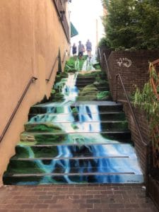 Painted stairs in Asheville, NC