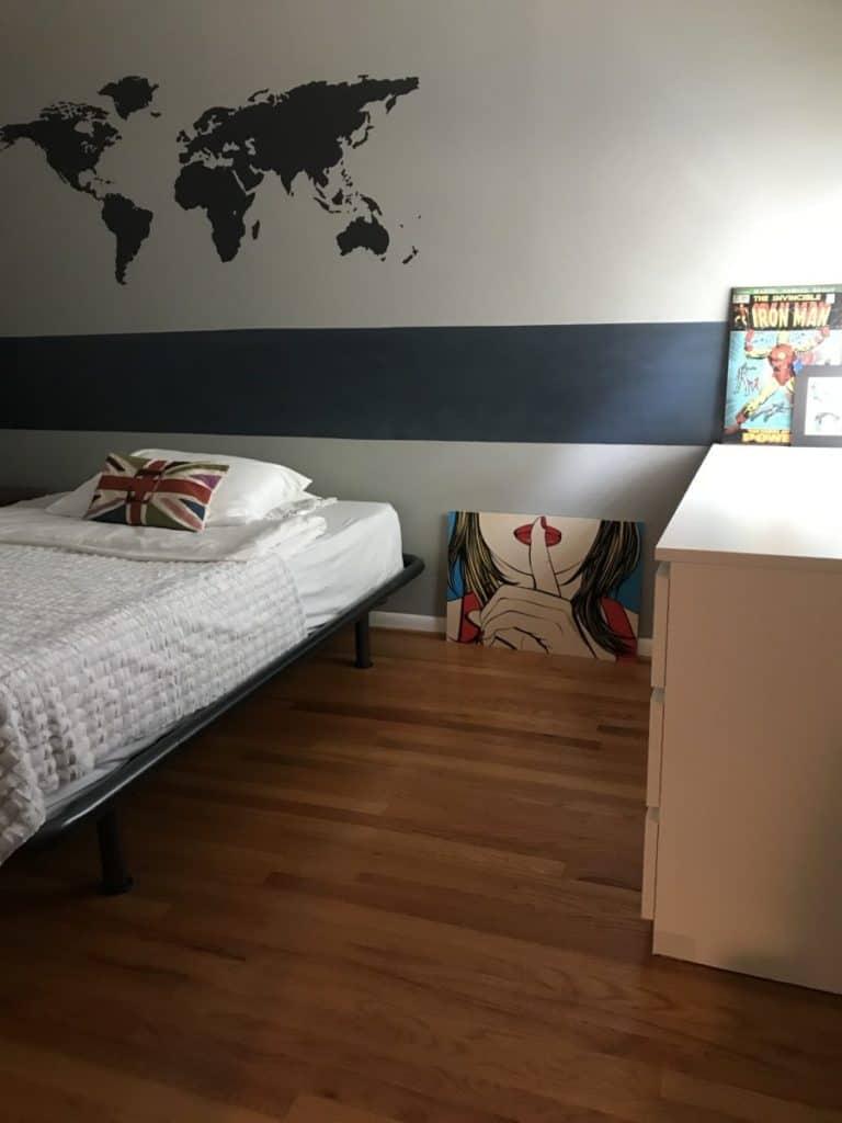 Updated teenager's bedroom