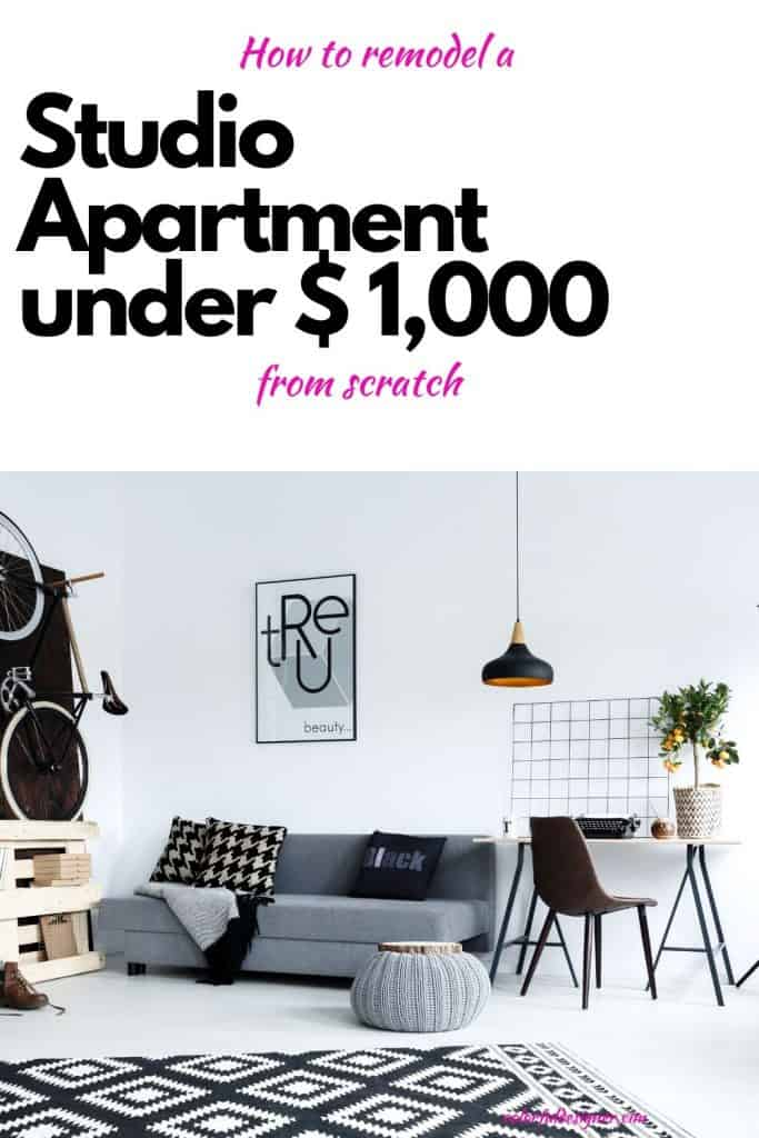 Studio Apartment Remodel under $ 1,000. See the before and after pictures and find out how to do this too. Studio Apartment makeover from scratch.