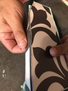 easy to break vinyl tiles