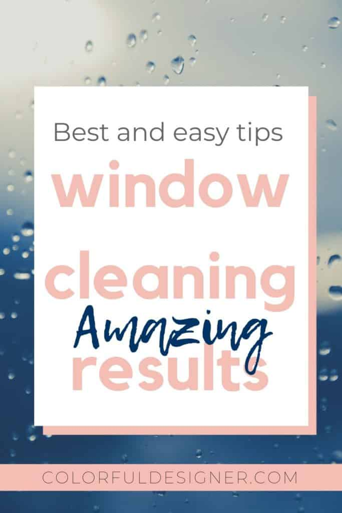 How to clean windows with best results